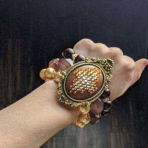 Tarina Tarantino brown Victorian Navajo bracelet